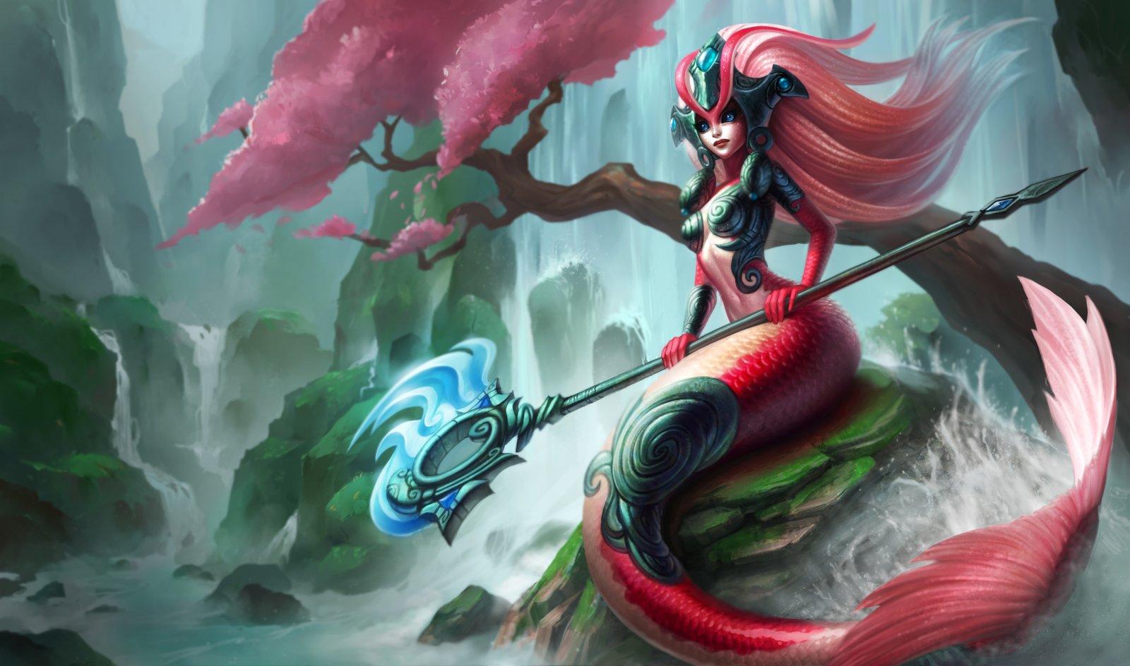 Koi Nami Splash Art 4k HD Wallpaper Official Artwork League of Legends lol