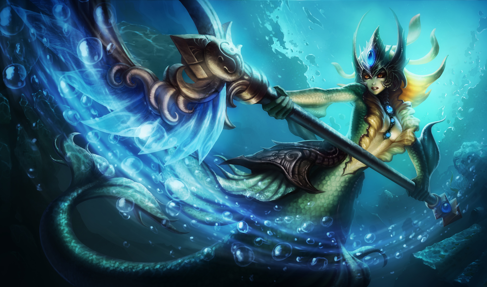 Classic Nami Splash Art 4k HD Wallpaper Official Artwork League of Legends lol