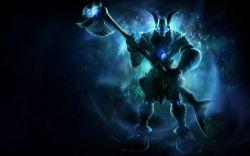 Galactic Nasus Splash Art HD 4k Wallpaper Background Official Art Artwork League of Legends lol