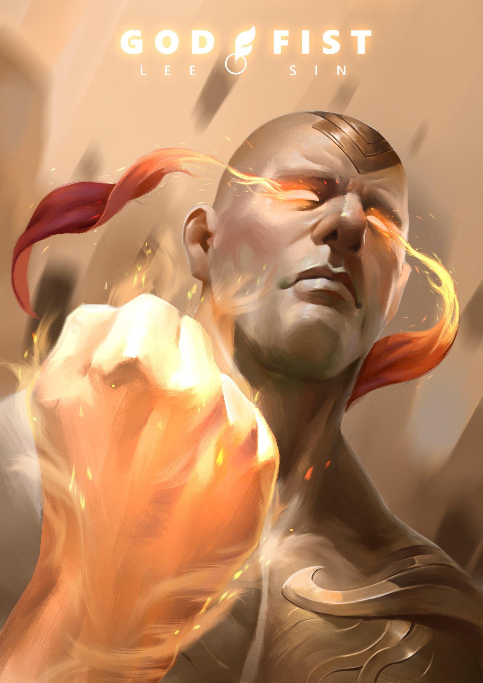God Fist Lee Sin Wallpapers Fan Arts League Of Legends Lol