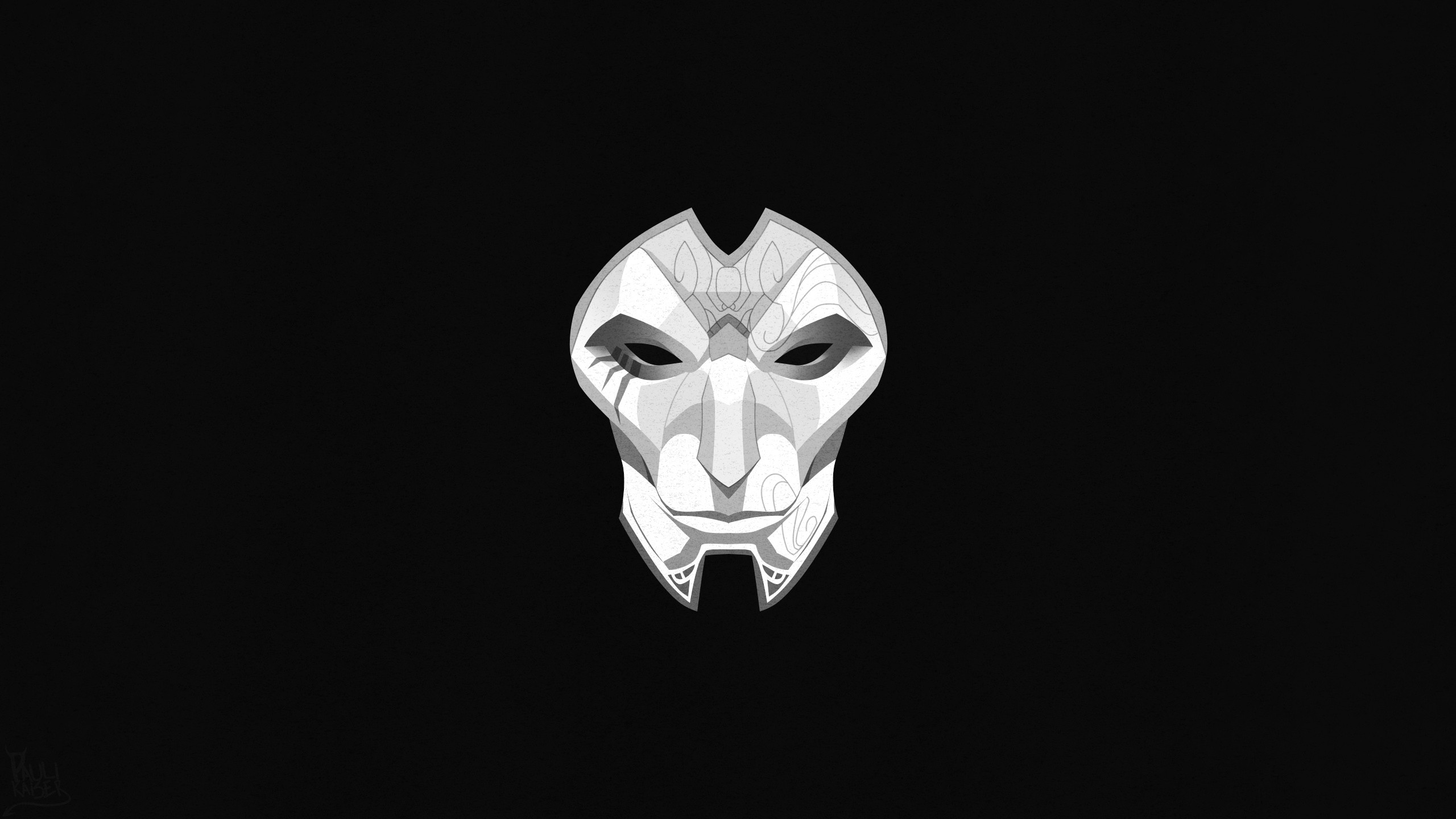 Jhin Mask Minimalistic Wallpapers Fan Arts League Of Legends