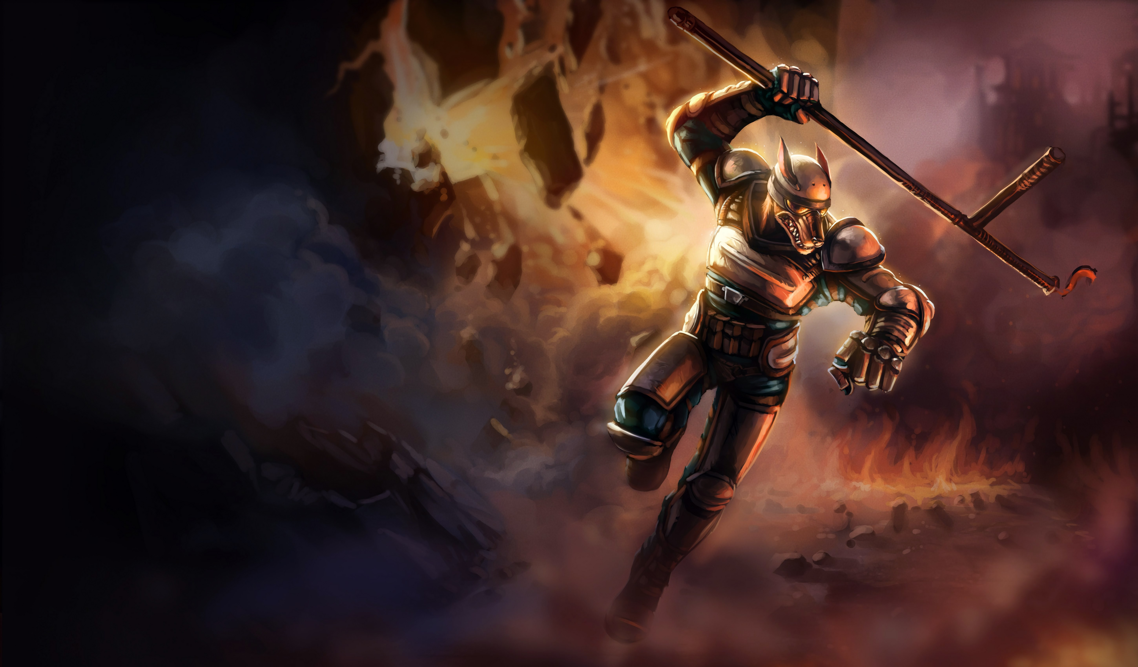 Riot K-9 Nasus Splash Art HD 4k 6k Wallpaper Background Official Art Artwork League of Legends lol