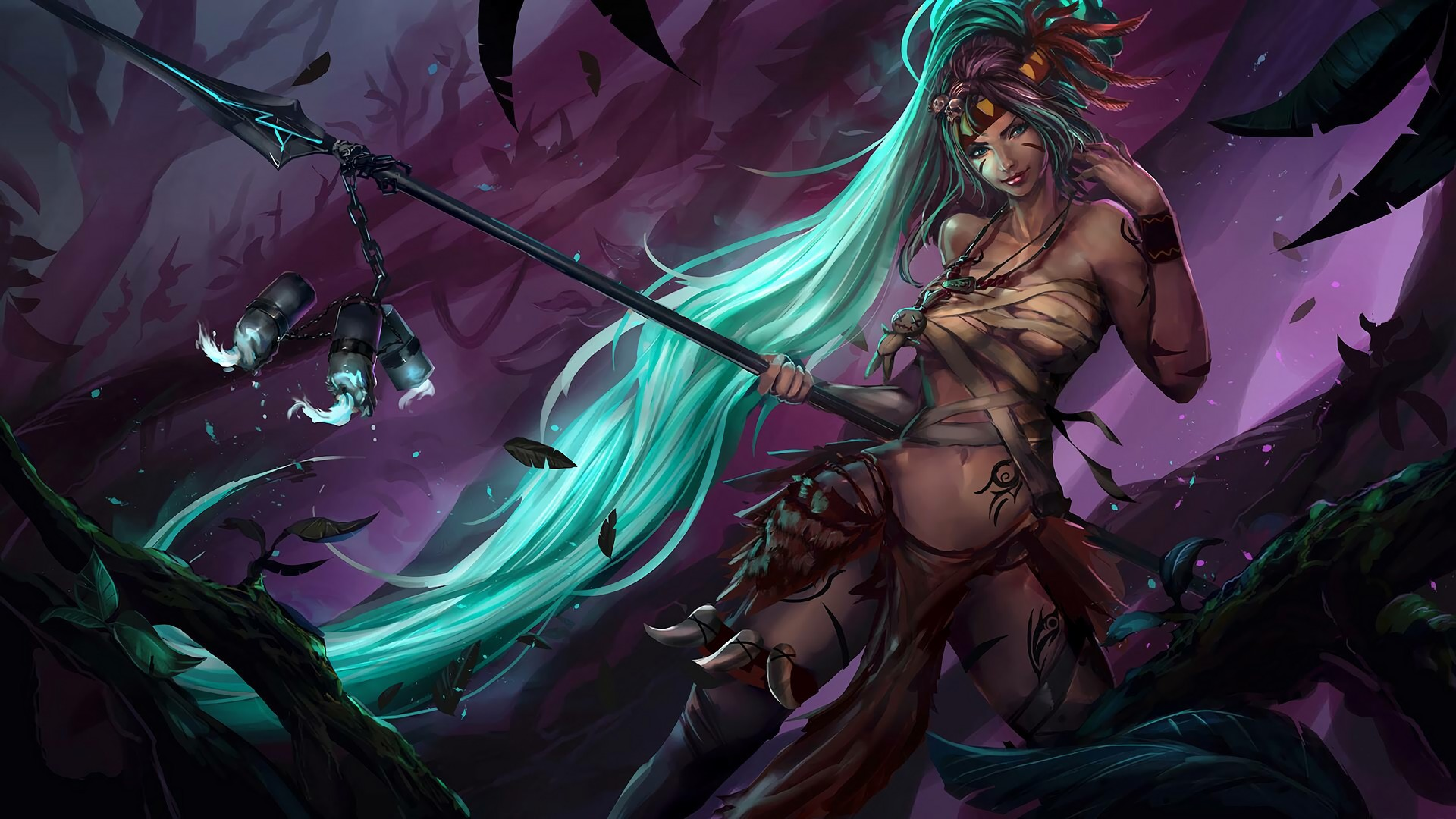 Halloween Nidalee Wallpapers Fan Arts League Of Legends