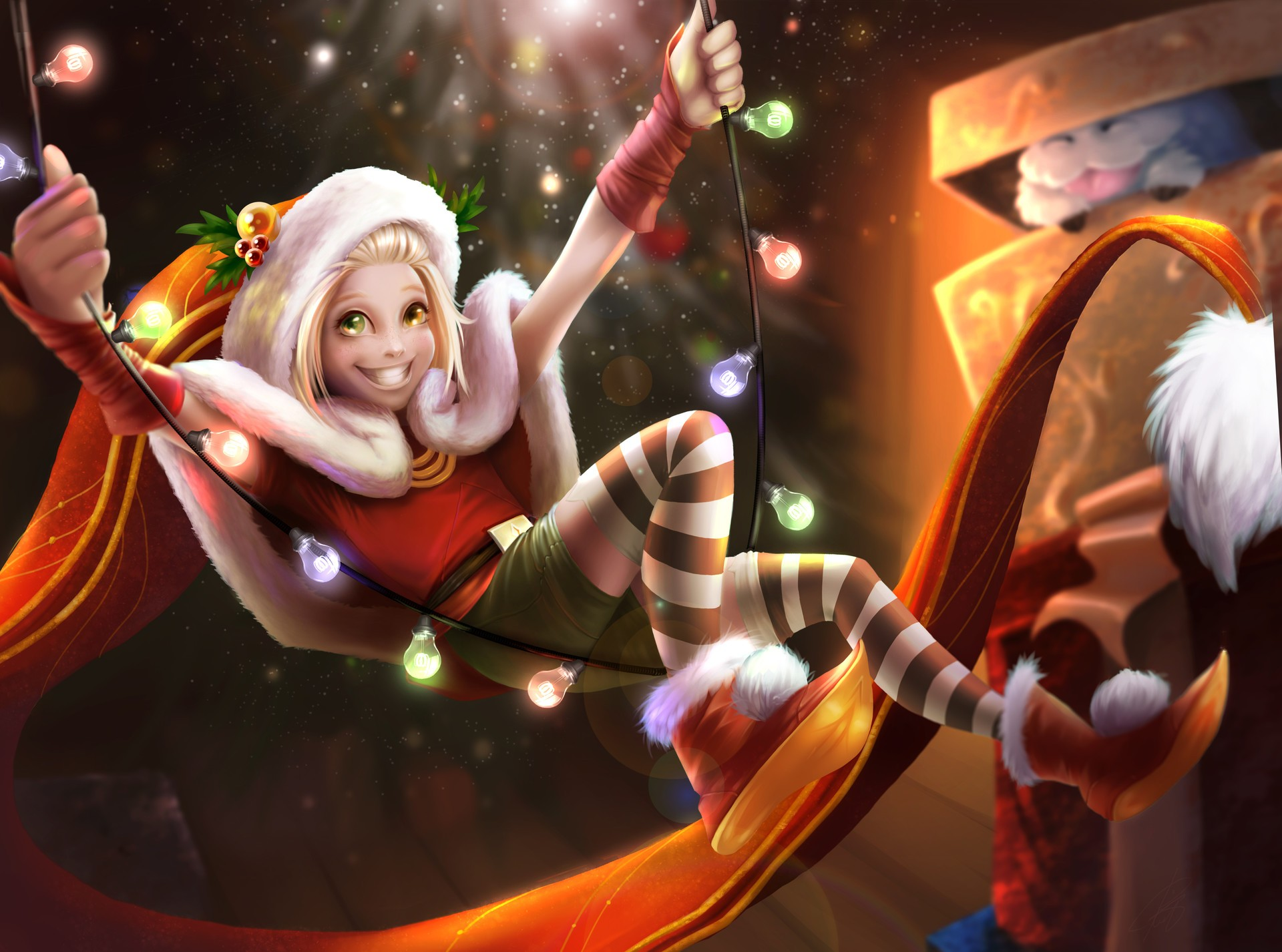 Christmas Zoe Wallpapers Fan Arts League Of Legends Lol Stats