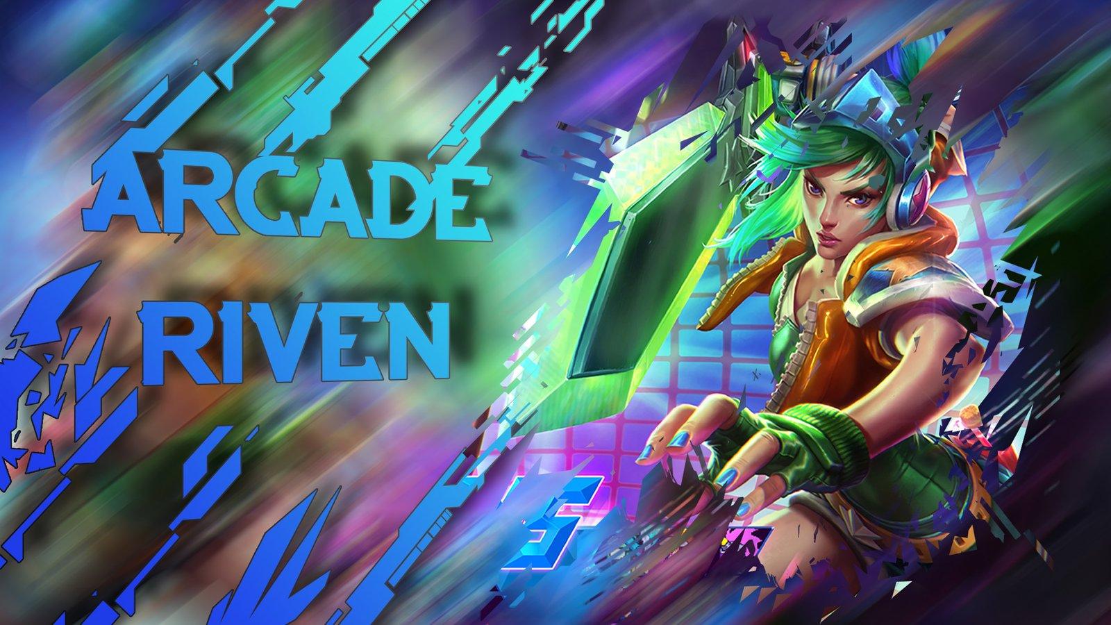 Arcade Riven Wallpapers Fan Arts League Of Legends Lol Stats