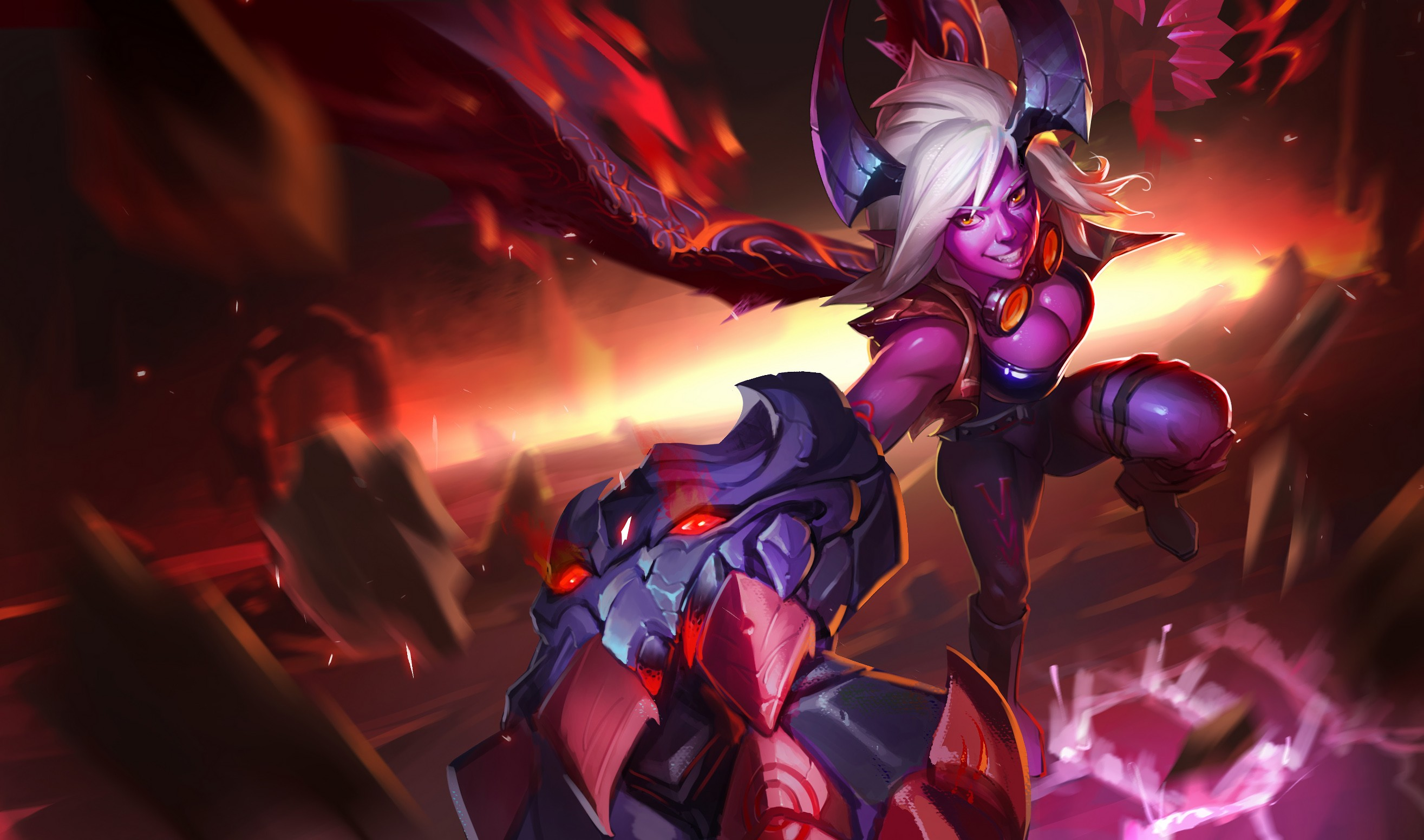 Demon Vi Wallpapers Fan Arts League Of Legends Lol Stats