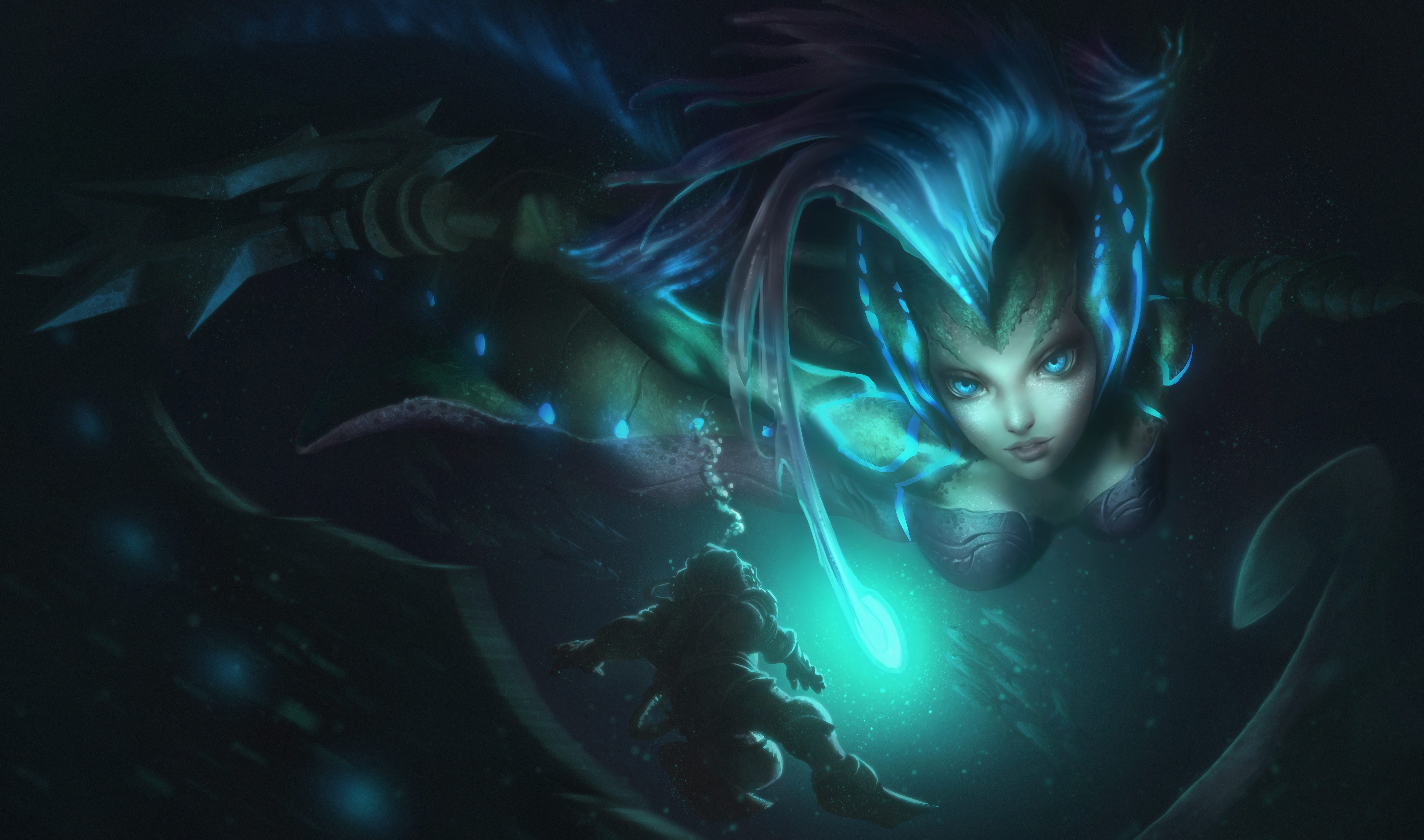 Deep Sea Nami Splash Art HD 4k Wallpaper Background Official Art Artwork League of Legends lol